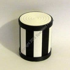 Drum Container Storage Pot, Monochrome
