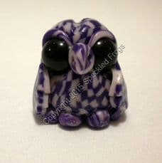 Tiny Owl in Purple and white check