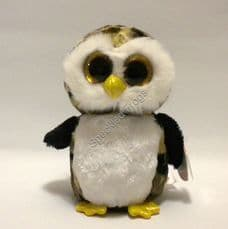"""Ty Beanie Boos, Owliver the Owl, 6"""" RETIRED"""