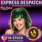 70's FANCY DRESS WIG ~ TINSEL WIG GREEN