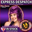 70's FANCY DRESS WIG ~ TINSEL WIG PURPLE