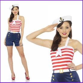 Adult Ladies Pitches Sweet Sailor Girl Costume
