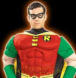 Adult Mens Muscle Chest Robin Costume