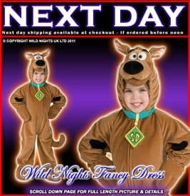 BOYS/GIRLS DELUXE SCOOBY DOO MED AGE 5-7