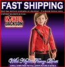 BOYS MICHAEL JACKSON DELUXE RED THRILLER JACKET