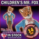 Childs Animal Costume Kids Fancy Dress Boys/Girls - MR FOX - SMALL Age 3-4 years