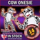 Cow Adult Animal Mascot Costumes Zoo Farmyard Jungle Woodland Fancy Dress