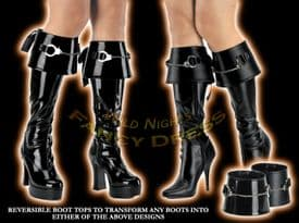 FANCY DRESS ACCESSORIES 2 SIDED BOOT CUFFS POLICE