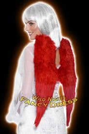 FANCY DRESS ACCESSORIES # DLX FEATHER ANGEL WINGS RED