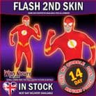 FANCY DRESS COSTUME ~ 2ND SKIN SUPERHERO THE FLASH SUIT LG