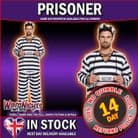 FANCY DRESS COSTUME - ADULT PRISONER MALE ONE SIZE