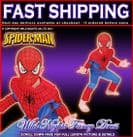 FANCY DRESS COSTUME ~ BOYS SPIDERMAN PREMIUM EVA MUSCLE CHEST SMALL AGE 3-4