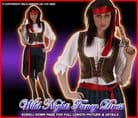 FANCY DRESS COSTUME CARIBBEAN PIRATE LADY MED 12-14