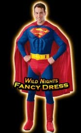FANCY DRESS COSTUME ~ DELUXE MUSCLE CHEST SUPERMAN MED