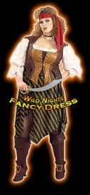 FANCY DRESS COSTUME ~ DELUXE PIRATE WENCH XL