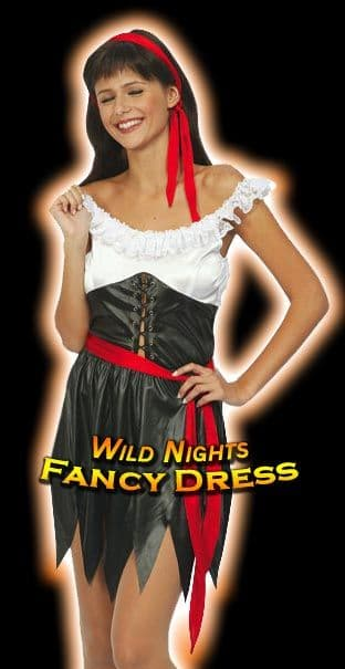 FANCY DRESS COSTUME - FUN SEXY PIRATE GIRL OUTFIT