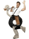 FANCY DRESS COSTUME MENS / LADIES OSTRICH WITH FAKE HANGING LEGS