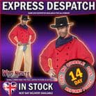 FANCY DRESS COSTUME # MENS WESTERN JOHN WAYNE COWBOY MEDIUM