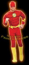 FANCY DRESS COSTUME ~ MUSCLE CHEST THE FLASH X LARGE