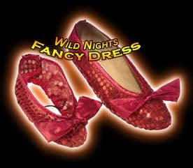 FANCY DRESS COSTUME ~ OZ RED SEQUIN SHOES CHILDS