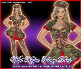 FANCY DRESS COSTUME # SPECIAL FORCES ARMY LADY SM 8-10