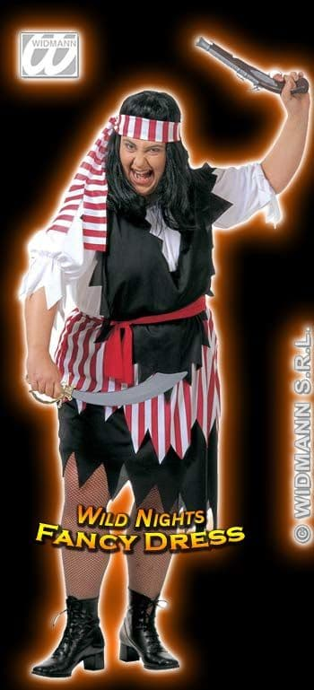 FANCY DRESS COSTUME = XL DELUXE PIRATE LADY