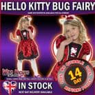 Girls Hello Kitty Lady Bug Costume Age 7-9 Years