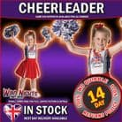 Girls Patriotic Cheerleader Costume