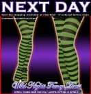 HALLOWEEN FANCY DRESS # ADULT STRIPED WITCH TIGHTS BLACK / GREEN