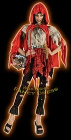 Halloween Ladies Unhappily Ever After Dead Riding Hood Costume