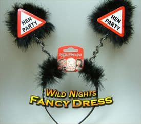 """HEN NIGHT- WARNING SIGN BOPPERS """"HEN PARTY"""""""
