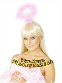 HEN PARTY ACCESSORIES # ANGEL HALO PINK MARABOU