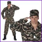 Karnival Mens Army Camo Suit Costume