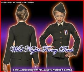 LADIES 1940s WARTIME MILITARY OFFICER