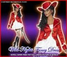 Ladies Sultry Pirate Lady Costume