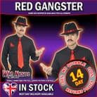 MENS 1920's RED GANGSTER INSTANT DRESS UP KIT