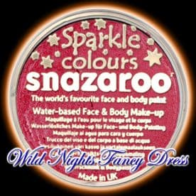 SNAZAROO PROFESSIONAL FACE PAINT SPARKLE RED 18ML