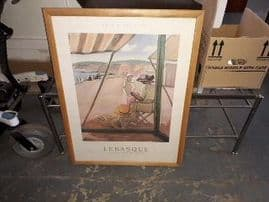 185669 / WALL PICTURE IN LIGHT WOOD FRAME - 86 X 66XCM